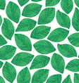 Seamless texture of realistic leaves vector image