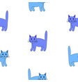 set of funny blue cats vector image vector image