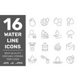 set water in thin line style high quality vector image