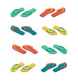 slippers isolated summer shoes beach boots sign vector image vector image