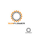 sunflower logo vector image vector image