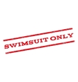 Swimsuit Only Watermark Stamp vector image vector image