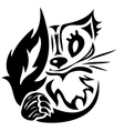 tattoo cat vector image vector image