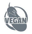 vegan logo simple style vector image