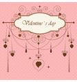 Vintage valentines card vector image vector image