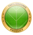 Icon of organic for food or drinks vector image