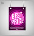 best price background vector image