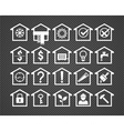 20 house icons vector image