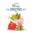 2019 new yea christmas greeting card vector image vector image