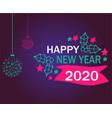 2021 happy new year design vector image vector image