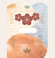 abstract art background with watercolor texture vector image vector image