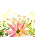Abstract background with branch of floral vector image vector image