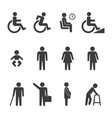 accessibility and accessible icon set vector image