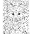 adult coloring bookpage a cute ratton on the vector image vector image
