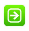 arrow in square icon digital green vector image vector image