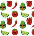 avocado tomato pepper and lemon design vector image