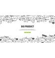 bio product healthy food vegetarian banner hand vector image
