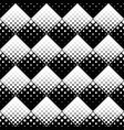black and white seamless geometrical retro circle vector image vector image