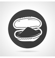 Black round icon for mussel vector image vector image