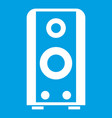 black sound speaker icon white vector image vector image