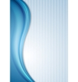 Blue waves and striped background vector image vector image
