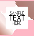 brush strokes and white frame template background vector image vector image