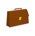 business briefcase with lock isolated on white vector image vector image