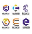 c letter logo design logo set vector image vector image