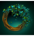 Cartoon wreath of vines and