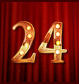 celebrating of 24 years anniversary vector image