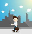 chill time salary man cartoon lifestyle vector image vector image