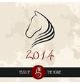 Chinese new year of the Horse shape file vector image vector image