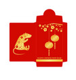 chinese new year red envelope flat icon vector image
