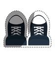Classic sneakers footwear vector image vector image