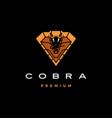 cobra logo icon in diamond shape vector image vector image