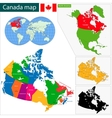 Colorful Canada map vector image vector image