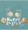 colorful happy easter greeting card eps10 vector image vector image