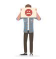 conceptual bad emotion vector image