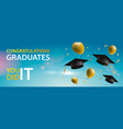 congratulations graduates 2019 caps balloons and vector image