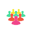 Crowd Icon vector image vector image