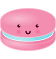 cute macaron character vector image vector image