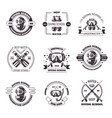 diving school promo monochrome emblems with vector image