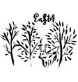 easter handdrawn modern brush lettering vector image