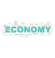 economy icons for education graphic design vector image vector image