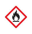 fire warning signs vector image
