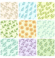 floral color background vector image vector image
