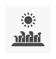 gardening tool icon vector image vector image