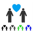 gay lovers flat icon vector image vector image