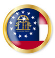 georgia flag button vector image vector image