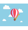 giraffe in the balloon vector image